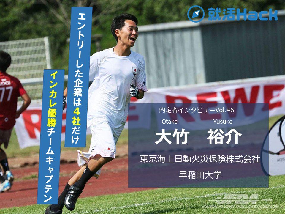 インカレ制覇!日本代表選出!チームを率いたキャプテンが語る学生生活と就活